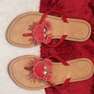 Coach Sandals - Red Lobster